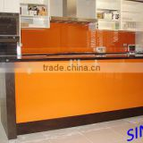 RAL 2001 Orange Classic Lacquered Glass / Back Painted Glass / Colored decoration glass for interior applications