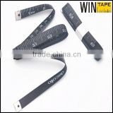 Black Glass Fiber Fashional Special Cloth Measuring Tape Tailoring Custom Printed Ribbon                                                                         Quality Choice