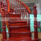 new design Red oak handrail small roman pillar with low prices