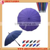 Auto open,16 umbrellas' ribs,pongee fabric,big size,drop shipping allowed,straight umbrellas, metal shaft and fluted ribs