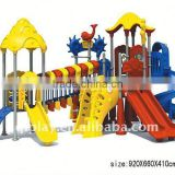 Color Paint Big Fruit Old Franchise Restaurant Playground in Grass Land Cover
