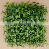 Wall Decorative Plastic Indoor Green Artificial Ficus Grass Mat Hedge for Sell