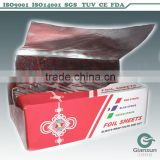 8011 Roll or Sheet Colorful Embossed aluminum foil for HairDressing/hairdressing foil dispenser