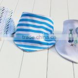 printed Wholesale double layers new cotton toddle scarf baby jersey adjustable bib bandana bib
