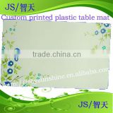 plastic table mat with custom printed designs, plastic sheet with printing, Dongguan factory