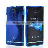 Blue S-Line Gel Case Rubber Skin Tpu Cover For Sony Ericsson Xperia Arc S HD LT26i