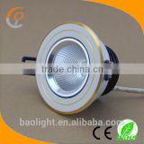 high brightness 2700k 5w 220v gold dimmable cob led downlight 75mm cutout 2years warranty