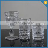LXHY-B032 embossed whisky glass crystal DOF tumbler glasses