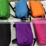happy life products sunbathing fabric banana sleeping bag/ inflatable bean bag/ fast filling waterproof inflatable air sofa