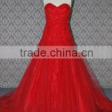 (MY0089) MARRY YOU China Factory Custom Made Lace Country Western Red Wedding Dress Pictures 2016