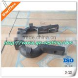 CNC machined cast iron pipe clamp with handle
