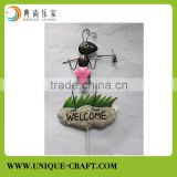 Cute ant stick metal decorative garden decorstions