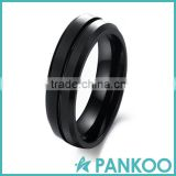hot sale wholesale rings for men jewelry trendy black tungsten ring