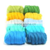 Merino wool roving dyed wool tops for sale