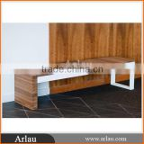 (FW31A) Arlau long backless wooden bench