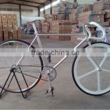 Chrome-Molybdenum Frame fixed gear bicycle, 700c road bicycle,one pc wheel .fixed gear bicycle factory