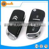 3 button remote key blank case shell with 206,307,407 blade for Citroen DS car key replacement