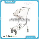 Stainless Steel 4 Wheels Airport Luggage Cart Baggage Trolley