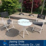 Dia 60cm table with 46*45*76cm metal folding chair/patio bistro set