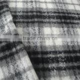 large wool/woven/fashionable fabric for lady coat fall & winter/plaid wool fiber