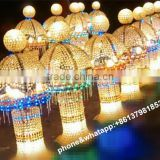 crystal candle holder/wedding mandap pillar decoration/decorated crystal pillars for weddings