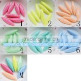 Popular 6*8*22MM Solid Colour Acrylic Horse Eye Beads Leaves Shaped Spacer Beads Necklace Design