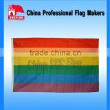 NO MOQ Custom Rainbow flags Gay Pride Bandana Flag