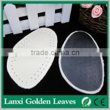 Calfskin leather arch support forefoot pad Half leather insole scilicone foot care heel cushion