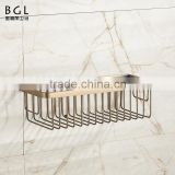 Middel East Style Wall mounted Bathroom accessories Anqtiue Bronze plating Brass Storage Basket