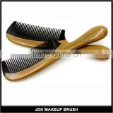 Green Sandalwood Horn Comb Wholesale Makeup Comb Thick Round Handle Cosmetic Comb