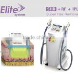 2 Heads E Light Ipl Rf Hair Removal Skin Rejuvenation 690-1200nm Shr Ipl Hair Removal Manual Shr Ipl Pain Free Shrink Trichopore