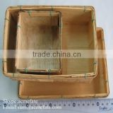 Wholesale eco-friendly natural china bamboo nesting basket