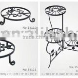 hand forged wrought iron flower stand