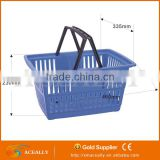 wholesale stacking plastic baskets plastic good quality white shopping trolley black basket with wheels