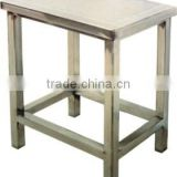 Stainless steel square type job chair