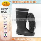 high heel steel toe safety boots with comfortable insole certified by CE EN 20345