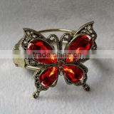 metal alloy butterfly curtain tie back