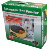 Hot-selling European Fashion Style 4 Meals Automatic Pet Feeder, Battery-Powered Automatic Pet Feeder With Large Seperate Trays