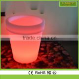 Solar PE Plastic outdoor led plant pot light,led light pots led lighted planter pots,led illuminate flower pot