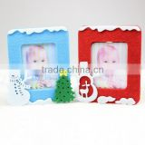 hot best selling new products custom blue red snowman tree home decor wholesale felt fabric family tree picture 3d photo frame