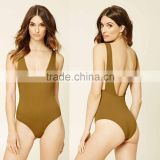 Ballet Leotards Women Adult Latex Bodysuit Catsuit Ribbed Knit One-Piece Swimsuit Wholesale Dance Leotards