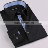 Men's black shirts contrast black shirts for men button down collar black shirts men