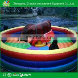 Manufacturer Factory Direct sale inflatable rodeo bull / inflatable bull ride game