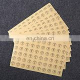customized transparent kraft paper color printing logo self adhesive stickers,Check seal logo printing label