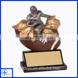 a sports man on a rugby resin trophy wholesale resin figure
