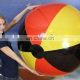 42 inch inflatable 3 color german flag beach ball
