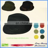 LSC-012 Ningbo Lingshang Wholesale 100% cotton vintage cheap men fedora hat