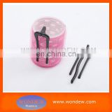 Plastic hair roller with clip