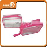 packaging clear pvc cosmetic bag with handle