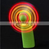 Green Portable Mini Light Up Fans Handheld Fan LED Color Matrix Cooling cool Light-Up Personal Fan w/ Changing Patterns